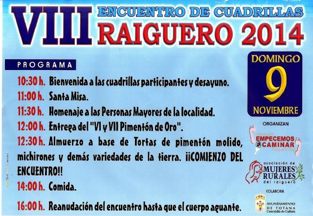 El Raiguero celebra este domingo el VIII Encuentro de Cuadrillas que organizan las asociaciones de mujeres rurales, Foto 3