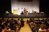450 alumnos de nueve institutos de la Región asisten a la representación de ´Don Juan Tenorio´ en el Auditorio Víctor Villegas