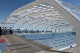 Terminan la instalación de la piscina municipal cubierta