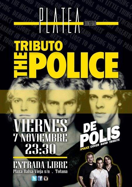 Platea Loungebar acoge el concierto solidario Tributo a The Police a beneficio de D´Genes y AELIP, Foto 1