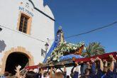 Centenares de fieles acompañan a la Virgen del Milagro en la subida hasta el santuario de La Purísima