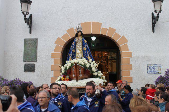 Miles de personas acompañan a la Virgen del Milagro hasta su santuario en Bolnuevo, Foto 2