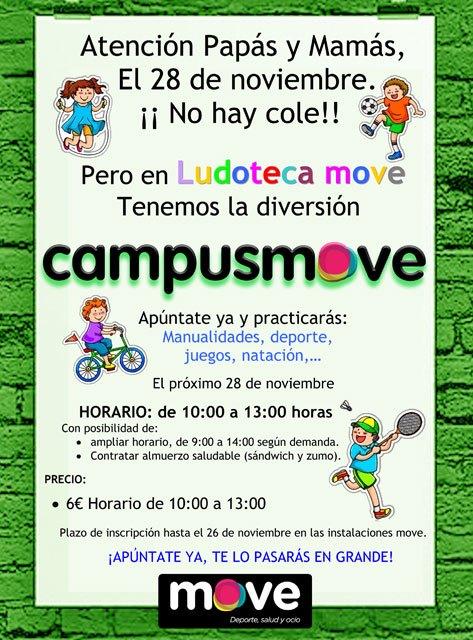 MOVE organiza un campus para niños que tendrá lugar el próximo viernes 28 de noviembre