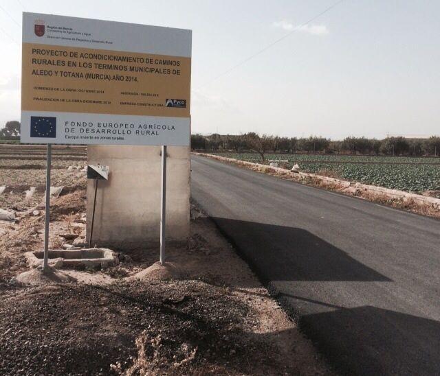 Finalizan las obras de arreglo y acondicionamiento del camino rural de
