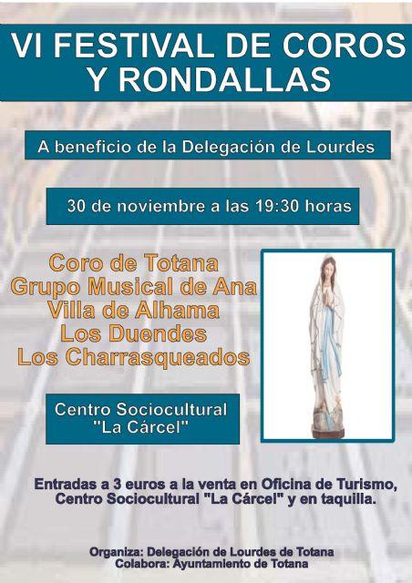 La delegación de Lourdes de Totana celebra este domingo 30 de noviembre el VI Festival de Coros y Rondallas