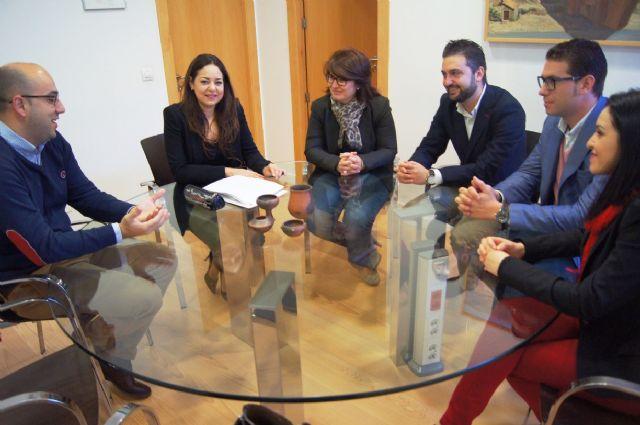 La alcaldesa se reúne con el nuevo presidente de Guadalentín Emprende, Foto 1