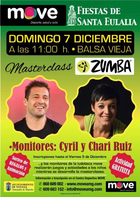 MOVE organiza una Masterclass de Zumba con motivo de las Fiestas de Santa Eulalia, Foto 1
