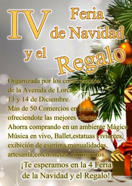La IV Feria de la Navidad y el Regalo de la Avenida de Lorca se celebrará los días 13 y 14 de diciembre, Foto 2