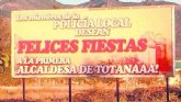 Los miembros de la Policía Local desean Felices Fiestas a la primera alcaldesa de Totanaaa!