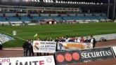 Más de 50 aficionados madridistas se desplazaron a Almería para presenciar el encuentro entre el Almería CF y el Real Madrid