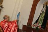 La Virgen de la Esperanza, patrona de los comerciantes y Salus Infirmorum, estrena vestido