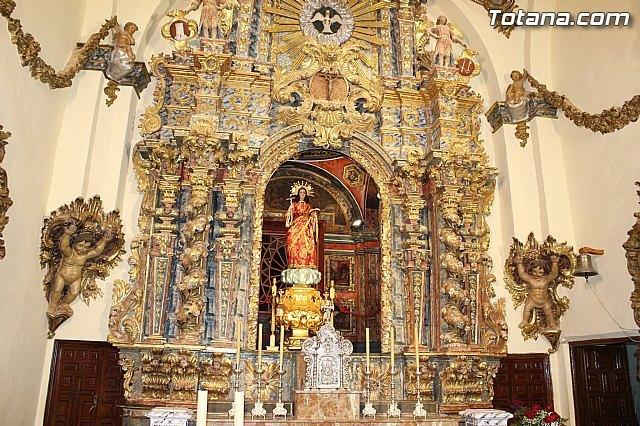 Cultura y el Ayuntamiento de Totana restauran este año el Retablo Mayor del Santuario de Santa Eulalia, Foto 1