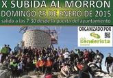 El próximo domingo 25 de enero tendrá lugar la X Subida al Morrón de Espuña