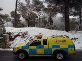 Llegan las primeras nieves a Sierra Espuña