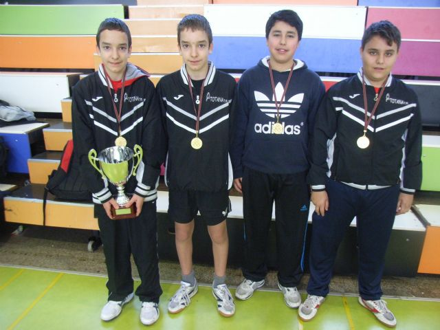 The IES Juan de la Cierva regional champion male child is proclaimed in the regional final table tennis School Sports, - 2