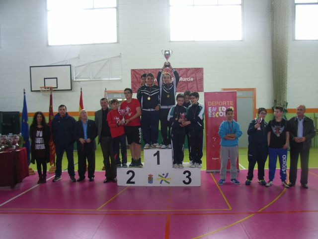 The IES Juan de la Cierva regional champion male child is proclaimed in the regional final table tennis School Sports, - 3