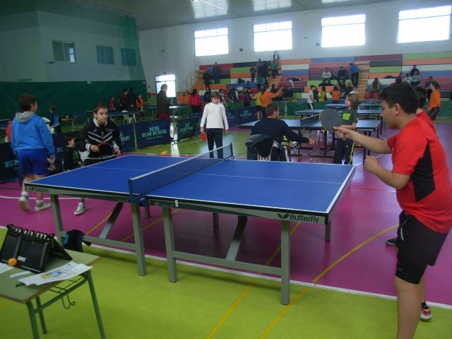 The IES Juan de la Cierva regional champion male child is proclaimed in the regional final table tennis School Sports, - 5