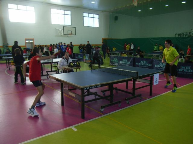 The IES Juan de la Cierva regional champion male child is proclaimed in the regional final table tennis School Sports, - 7