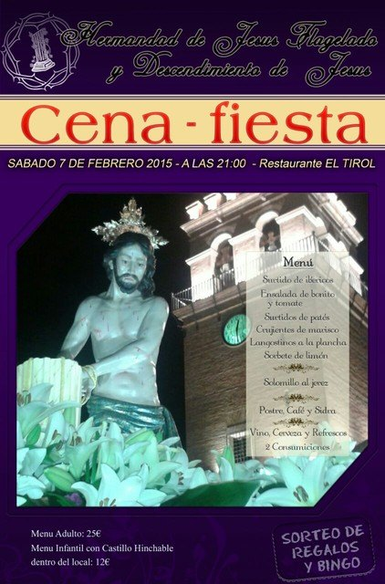La Hermandad de Jesús Flagelado y Descendimiento organiza una cena-fiesta, que tendrá lugar el próximo sábado, Foto 1