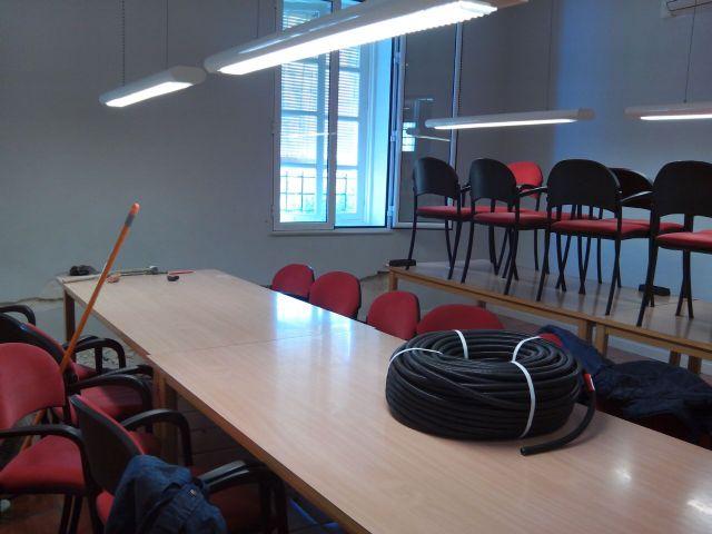 Prosiguen las obras de adecuación de la biblioteca municipal, la sala de estudio y el hall del edificio del Centro Sociocultural La Cárcel, Foto 1