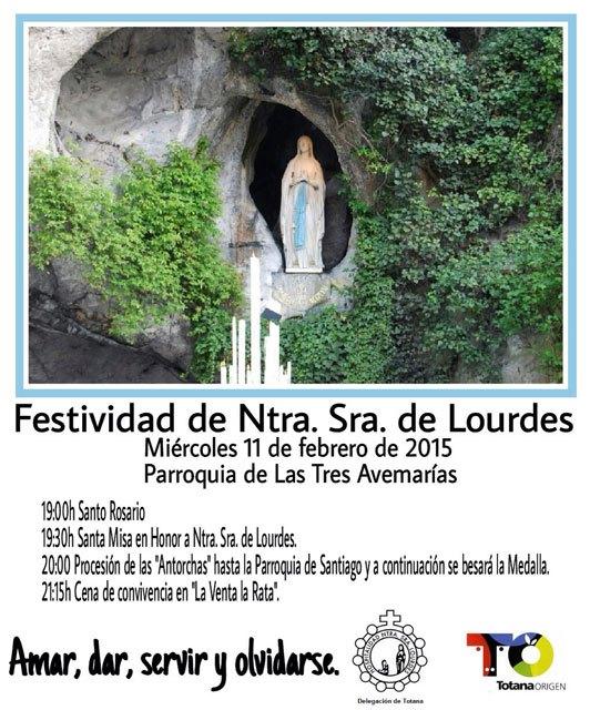 La Delegación de Totana de la Hospitalidad de Lourdes organiza varias actividades con motivo de la Festividad de Ntra. Sra. de Lourdes, Foto 1