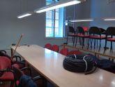 Prosiguen las obras de adecuación de la biblioteca municipal, la sala de estudio y el hall del edificio del Centro Sociocultural La Cárcel