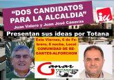 Los candidatos a las Primarias Abiertas convocadas por Izquierda Unida Totana expondrán sus ideas en una Asamblea Abierta