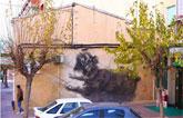 """La obra mural """"Miko"""" de Clínica Veterinaria Dogo, realizada por el joven artista totanero Emilio Cerezo, protagonista en una publicación italiana"""