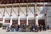 D´Genes apoya al UCAM Murcia C.F. en el partido de ayer domingo