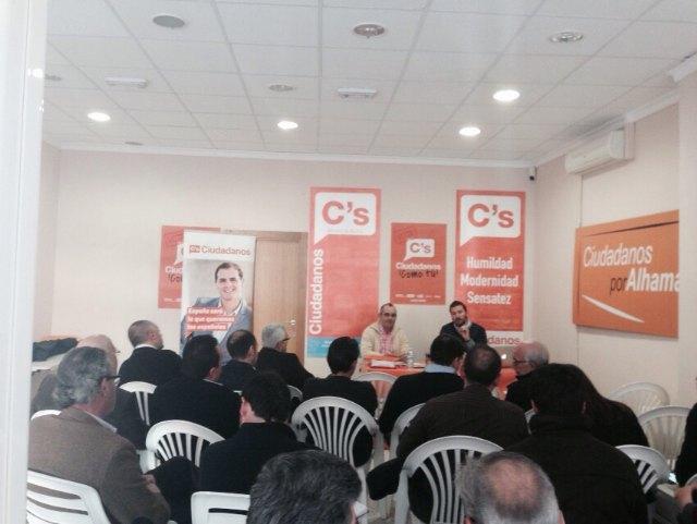 Alhama acogió la reunión de Coordinadores de las 23 agrupaciones locales de Ciudadanos, Foto 2