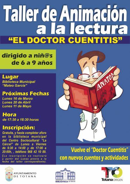 La Flor de Lilolá reanuda el Taller de Animación a la Lectura Doctor Cuentitis, Foto 1