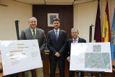 El consejero de Fomento visita la localidad para anunciar la construcci�n de la rotonda que unir� la A-7 con la RM-2