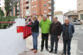Inaugurada la calle José Gaspar en Puerto de Mazarrón