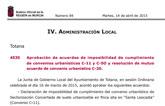 El BORM publica la aprobación de acuerdos de imposibilidad de cumplimiento de convenios urbanísticos C-11 y C-5O