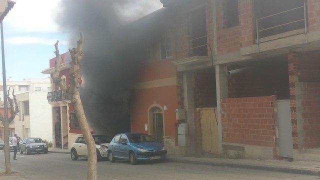 Fire Consortium intervene to quell declared in a house fire in Totana - 2