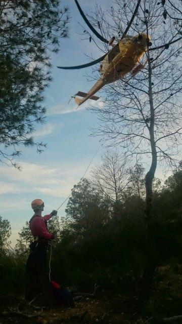 Rescatan a un senderista herido en Sierra del Cabezo Gordo, en Totana, Foto 2