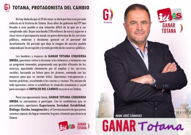 El acto de presentación de la Candidatura GANAR TOTANA, IZQUIERDA UNIDA tendrá lugar el próximo Jueves 7 de mayo, Foto 2