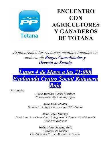 El PP celebra esta noche un acto sectorial con agricultores en el Raiguero Bajo, Foto 1