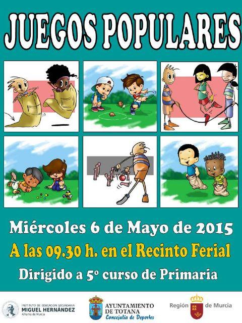 La Concejalía de Deportes organiza mañana miércoles 6 de mayo una Jornada de Juegos Populares en el Recinto Ferial, Foto 1