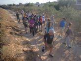 Más de 20 senderistas participaron en la ruta entre Fuente Álamo y las playas de Mazarrón