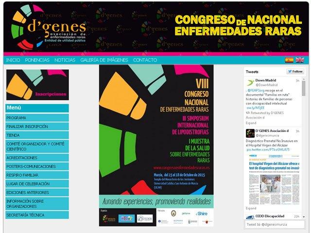 Ya está abierto el plazo para el envío de comunicaciones al VIII Congreso Nacional de Enfermedades Raras, Foto 1