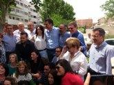 Pedro S�nchez da su apoyo al proyecto socialista de Alhama en un encuentro con el candidato Diego Conesa en Bullas