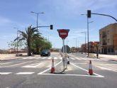 Se restablece el tráfico rodado de acceso desde la avenida Juan Carlos I en dirección a la avenida Rambla de La Santa, en la intersección de la nueva rotonda de la Kabuki