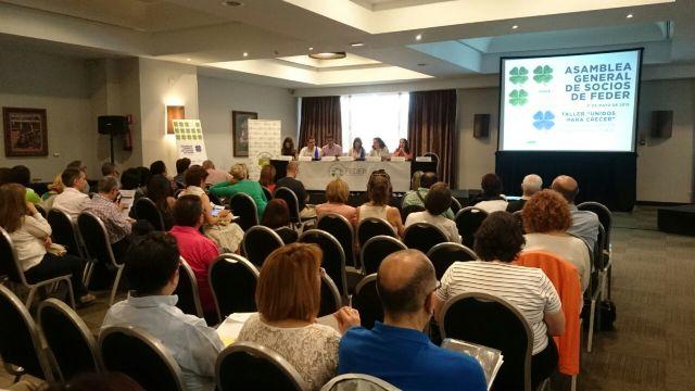 Seis asociaciones de la delegación de FEDER en Murcia participan en la Asamblea General de la Federación celebrada en Madrid, Foto 1
