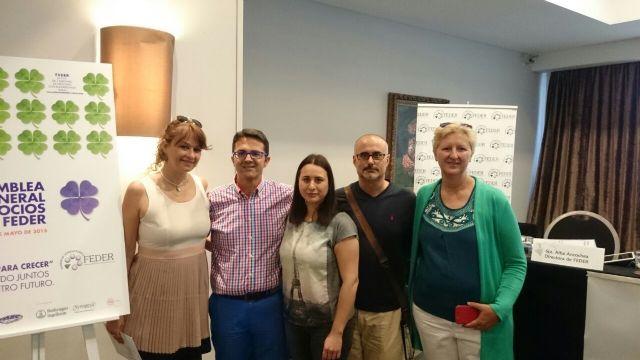Seis asociaciones de la delegación de FEDER en Murcia participan en la Asamblea General de la Federación celebrada en Madrid, Foto 2