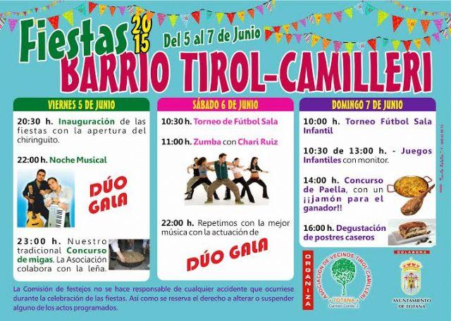Las fiestas del barrio Tirol-Camilleri se celebran este próximo fin de semana, del 5 al 7 de junio, con un amplio programa de actividades, Foto 2