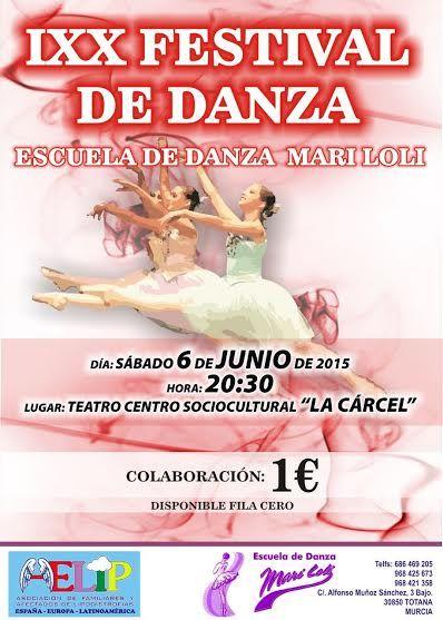 El XIX Festival de la Escuela de Danza Mari Loli de Totana será solidario con AELIP, Foto 3