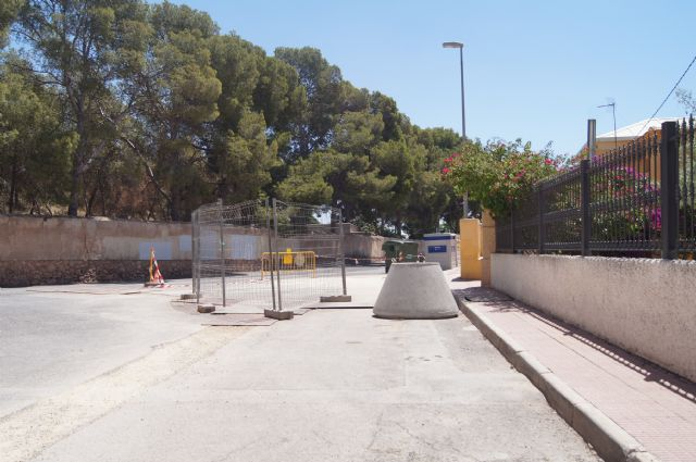 Se realiza corte de suministro en el barrio de La Cruz con motivo de las obras de mejora del suministro de agua potable, Foto 2