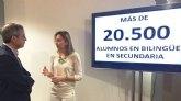 Más de 20.500 alumnos de Secundaria realizarán sus estudios en la modalidad bilingüe el próximo curso