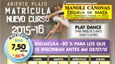 La Escuela de Danza Manoli Cánovas abre el plazo de matrícula para el curso 2015-16